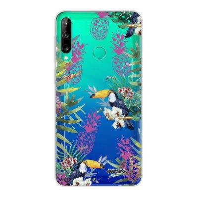 Coque Huawei P40 Lite E souple transparente Jungle Tropicale Motif Ecriture Tendance Evetane