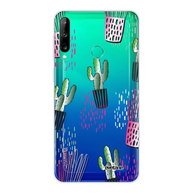 Coque Huawei P40 Lite E souple transparente Cactus motifs Motif Ecriture Tendance Evetane
