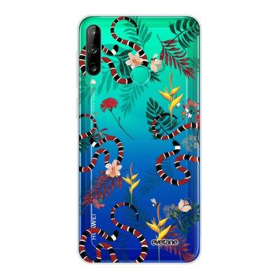 Coque Huawei P40 Lite E souple transparente Serpents et fleurs Motif Ecriture Tendance Evetane