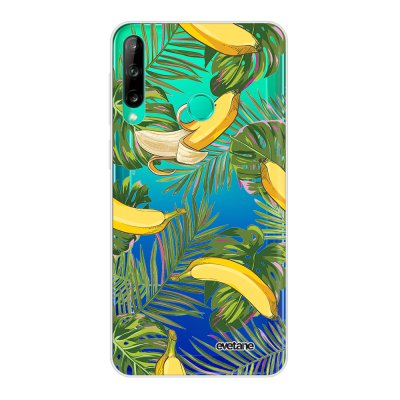 Coque Huawei P40 Lite E souple transparente Bananes Tropicales Motif Ecriture Tendance Evetane