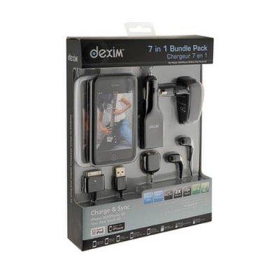 Pack accessoires Dexim 7 en 1 noir pour iPhone 3G / 3GS 4 / 4S