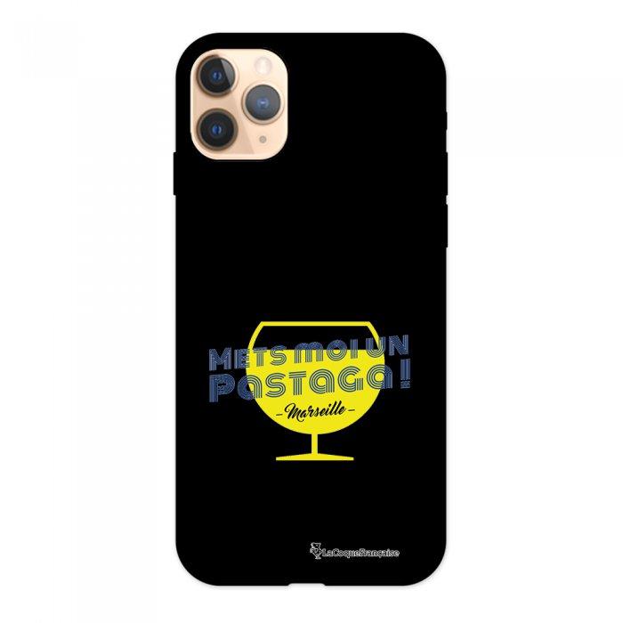 Coque iPhone 11 Pro Silicone Liquide Douce noir Pastaga La Coque Francaise.