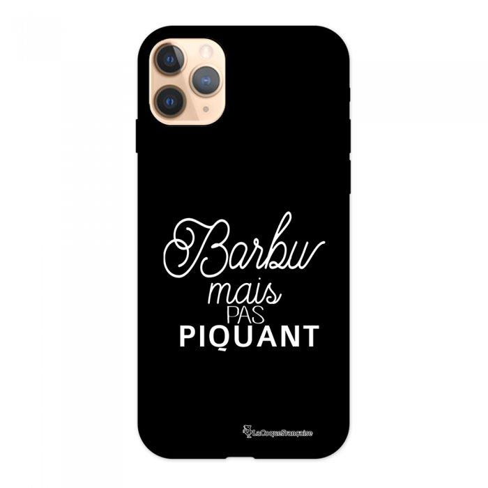 Coque iPhone 11 Pro Silicone Liquide Douce noir Barbu mais pas piquant blanc La Coque Francaise.