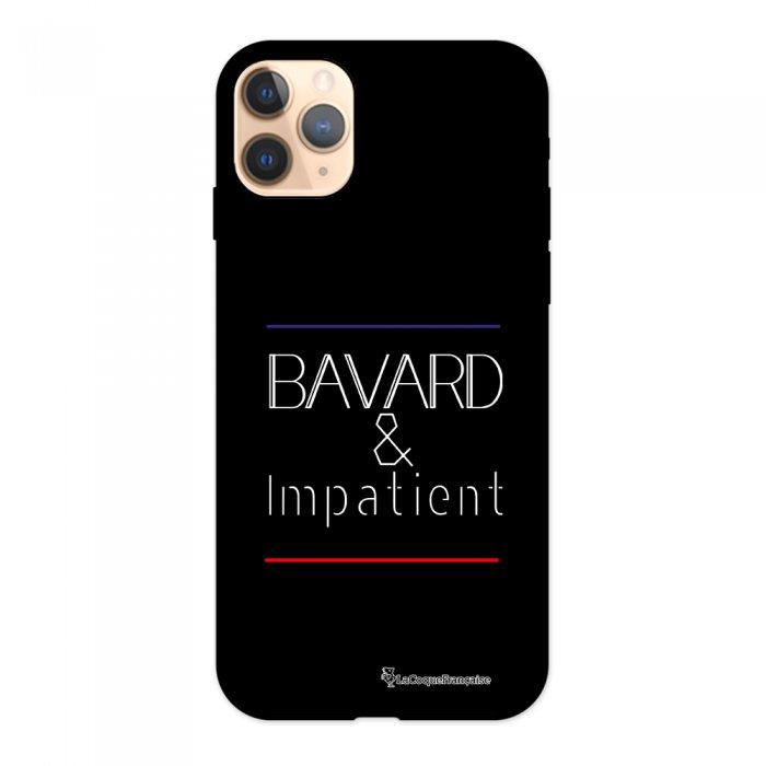 Coque iPhone 11 Pro Silicone Liquide Douce noir Bavard et impatient blanc La Coque Francaise.