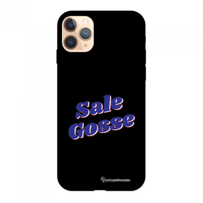 Coque iPhone 11 Pro Silicone Liquide Douce noir Sale Gosse bleu La Coque Francaise.
