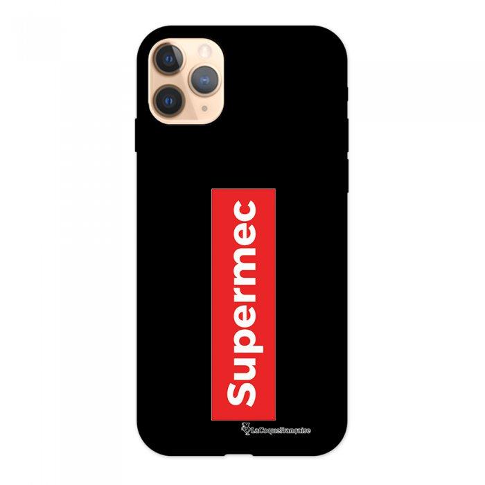 Coque iPhone 11 Pro Silicone Liquide Douce noir SuperMec La Coque Francaise.