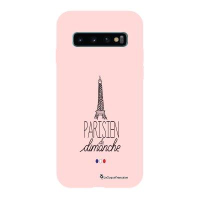 Coque Samsung Galaxy S10 Silicone Liquide Douce rose pâle Parisien du dimanche La Coque Francaise.
