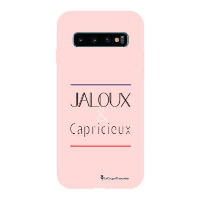 Coque Samsung Galaxy S10 Silicone Liquide Douce rose pâle Jaloux et capricieux La Coque Francaise.