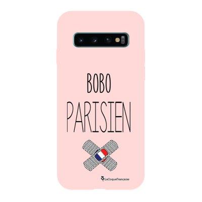 Coque Samsung Galaxy S10 Silicone Liquide Douce rose pâle Bobo parisien La Coque Francaise.