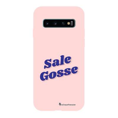Coque Samsung Galaxy S10 Silicone Liquide Douce rose pâle Sale Gosse bleu La Coque Francaise.