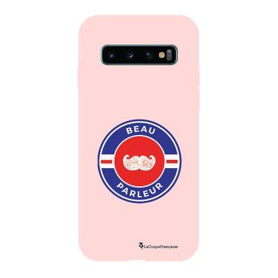 Coque Samsung Galaxy S10 Silicone Liquide Douce rose pâle Beau Parleur La Coque Francaise.
