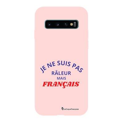 Coque Samsung Galaxy S10 Silicone Liquide Douce rose pâle Râleur mais Français La Coque Francaise.
