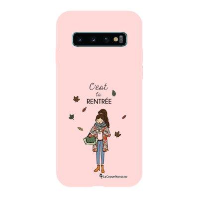 Coque Samsung Galaxy S10 Silicone Liquide Douce rose pâle C'est la rentrée La Coque Francaise.