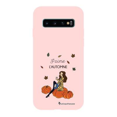 Coque Samsung Galaxy S10 Silicone Liquide Douce rose pâle J'aime l'automne La Coque Francaise.