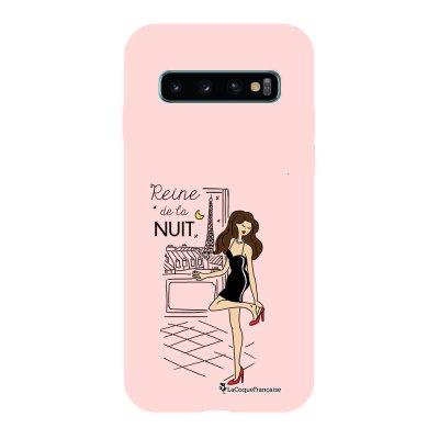 Coque Samsung Galaxy S10 Silicone Liquide Douce rose pâle Reine de la Nuit La Coque Francaise.
