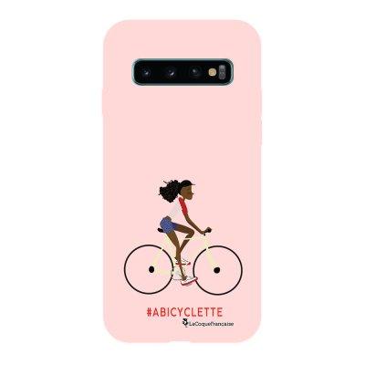 Coque Samsung Galaxy S10 Silicone Liquide Douce rose pâle A Bicyclette La Coque Francaise.