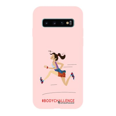 Coque Samsung Galaxy S10 Silicone Liquide Douce rose pâle Body Challenge La Coque Francaise.