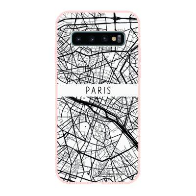 Coque Samsung Galaxy S10 Silicone Liquide Douce rose pâle Carte de Paris La Coque Francaise.