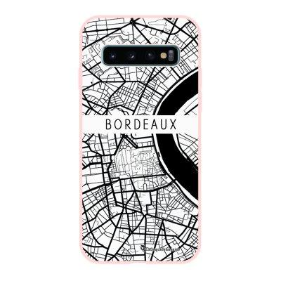 Coque Samsung Galaxy S10 Silicone Liquide Douce rose pâle Carte de Bordeaux La Coque Francaise.