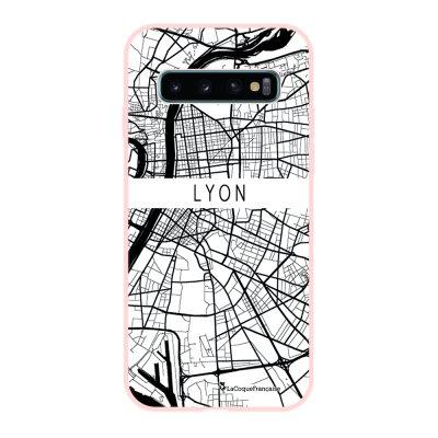 Coque Samsung Galaxy S10 Silicone Liquide Douce rose pâle Carte de Lyon La Coque Francaise.