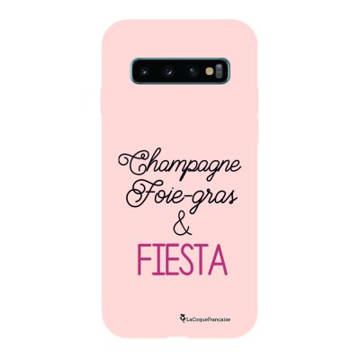 Coque Samsung Galaxy S10 Silicone Liquide Douce rose pâle Champ et Fiesta La Coque Francaise.