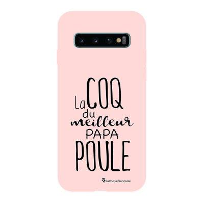 Coque Samsung Galaxy S10 Silicone Liquide Douce rose pâle Meilleur papa poule La Coque Francaise.
