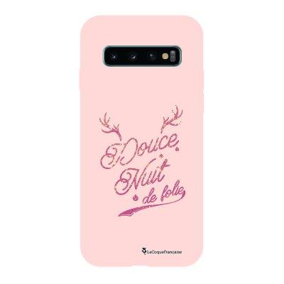 Coque Samsung Galaxy S10 Silicone Liquide Douce rose pâle Douce nuit de Folie La Coque Francaise.