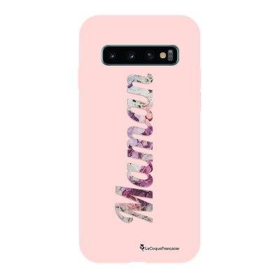Coque Samsung Galaxy S10 Silicone Liquide Douce rose pâle Maman Fleur La Coque Francaise.