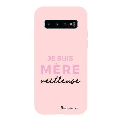 Coque Samsung Galaxy S10 Silicone Liquide Douce rose pâle Mère Veilleuse La Coque Francaise.
