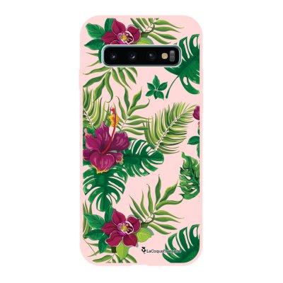 Coque Samsung Galaxy S10 Silicone Liquide Douce rose pâle Tropical La Coque Francaise.