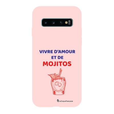 Coque Samsung Galaxy S10 Silicone Liquide Douce rose pâle Vivre D'amour et de Mojitos La Coque Francaise.