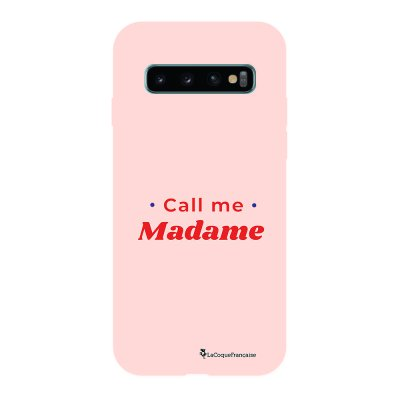 Coque Samsung Galaxy S10 Silicone Liquide Douce rose pâle Call Me Madame La Coque Francaise.