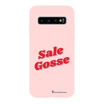 Coque Samsung Galaxy S10 Silicone Liquide Douce rose pâle Sale Gosse Rouge La Coque Francaise.