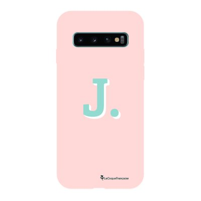 Coque Samsung Galaxy S10 Silicone Liquide Douce rose pâle Initiale J La Coque Francaise.