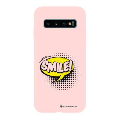 Coque Samsung Galaxy S10 Silicone Liquide Douce rose pâle SMILE La Coque Francaise.