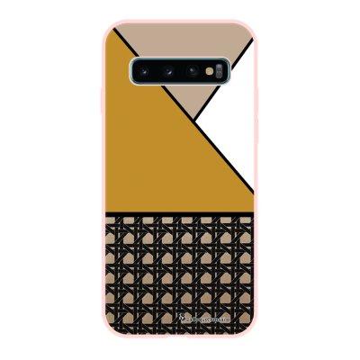 Coque Samsung Galaxy S10 Silicone Liquide Douce rose pâle Canage moutarde La Coque Francaise.