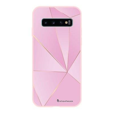 Coque Samsung Galaxy S10 Silicone Liquide Douce rose pâle Rose géométrique La Coque Francaise.