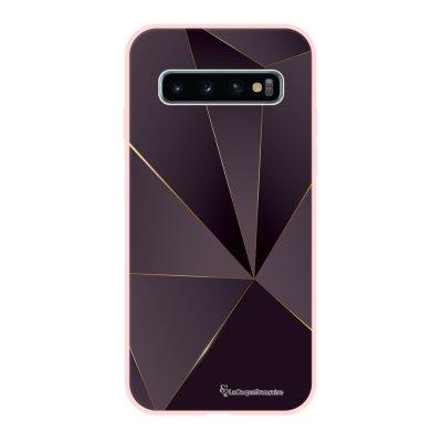 Coque Samsung Galaxy S10 Silicone Liquide Douce rose pâle Violet géométrique La Coque Francaise.