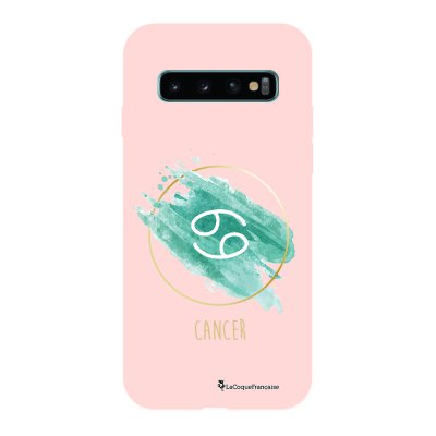 Coque Samsung Galaxy S10 Silicone Liquide Douce rose pâle Cancer La Coque Francaise.