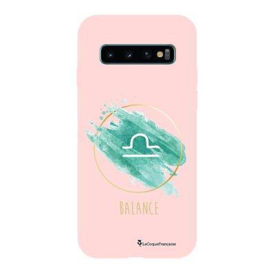 Coque Samsung Galaxy S10 Silicone Liquide Douce rose pâle Balance La Coque Francaise.