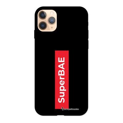 Coque iPhone 11 Pro Silicone Liquide Douce noir SuperBAE La Coque Francaise.