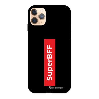 Coque iPhone 11 Pro Silicone Liquide Douce noir SuperBFF La Coque Francaise.
