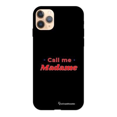 Coque iPhone 11 Pro Silicone Liquide Douce noir Call Me Madame La Coque Francaise.