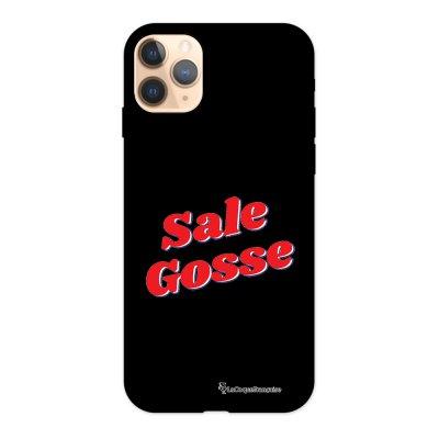 Coque iPhone 11 Pro Silicone Liquide Douce noir Sale Gosse Rouge La Coque Francaise.