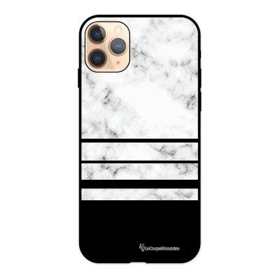 Coque iPhone 11 Pro Silicone Liquide Douce noir Trio marbre Blanc La Coque Francaise.