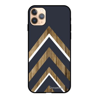 Coque iPhone 11 Pro Silicone Liquide Douce noir Trio bleu marine bois La Coque Francaise.