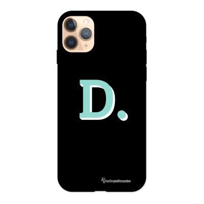 Coque iPhone 11 Pro Silicone Liquide Douce noir Initiale D La Coque Francaise.