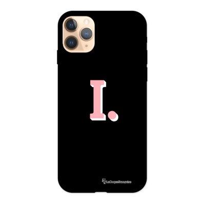 Coque iPhone 11 Pro Silicone Liquide Douce noir Initiale I La Coque Francaise.