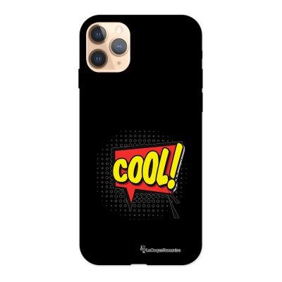 Coque iPhone 11 Pro Silicone Liquide Douce noir COOL La Coque Francaise.