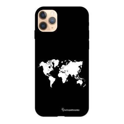 Coque iPhone 11 Pro Silicone Liquide Douce noir Carte La Coque Francaise.